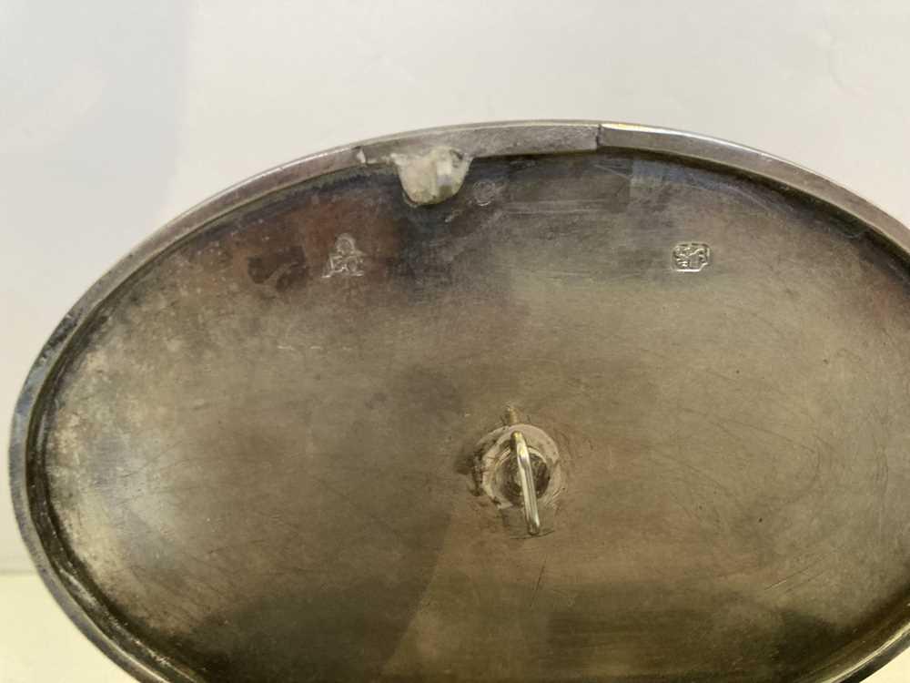 A George III oval tea caddy - Image 10 of 11