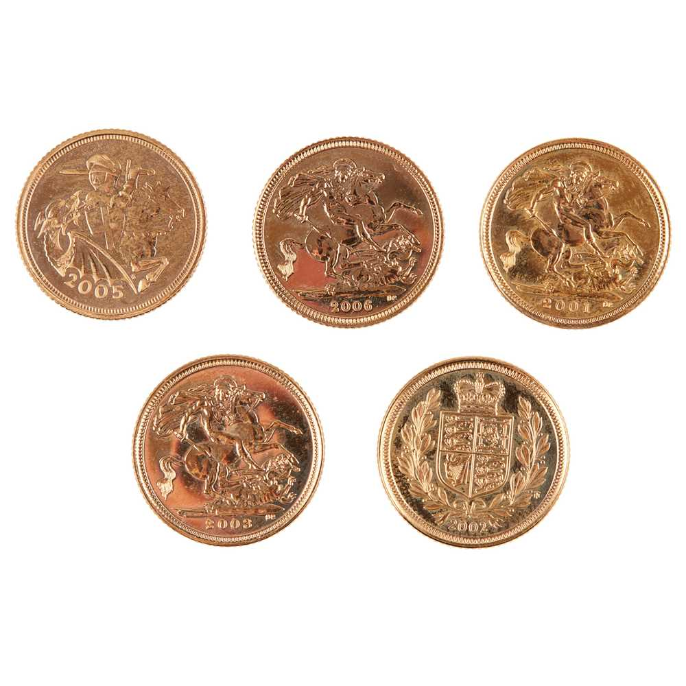 G.B - Five proof half sovereigns - Image 2 of 2