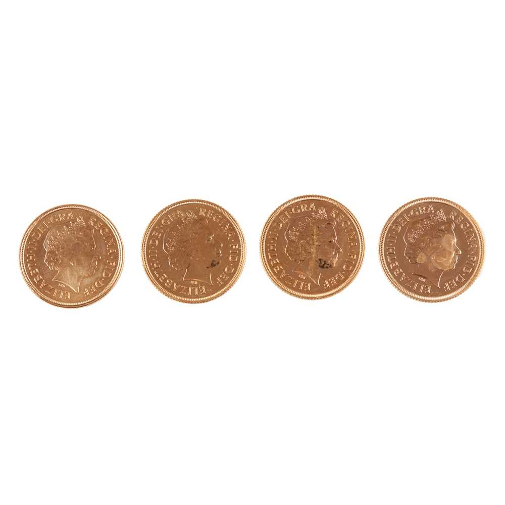 G.B - Four gold proof sovereigns