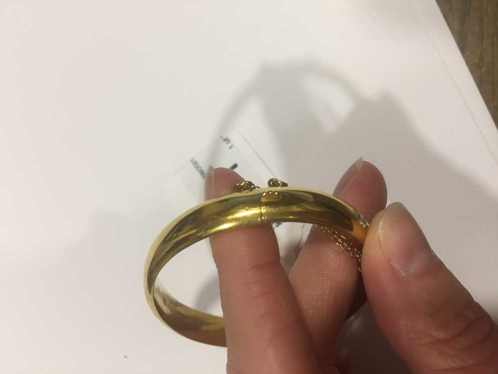 A Victorian 15ct gold sapphire and diamond bangle - Image 7 of 10