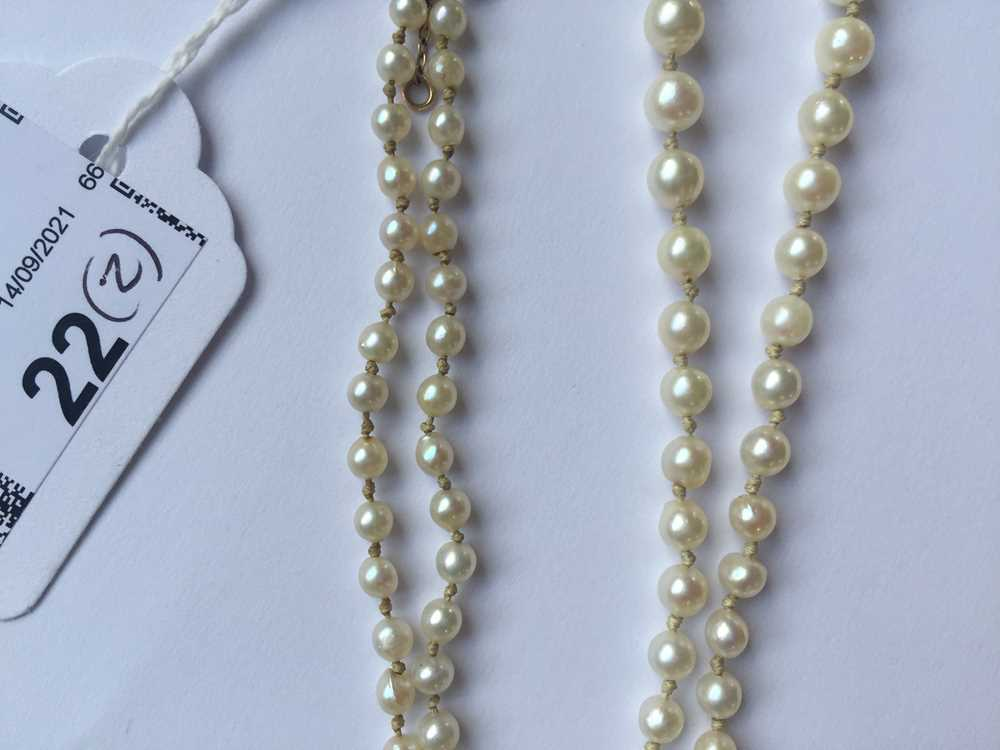 A natural saltwater pearl necklace - Image 13 of 13