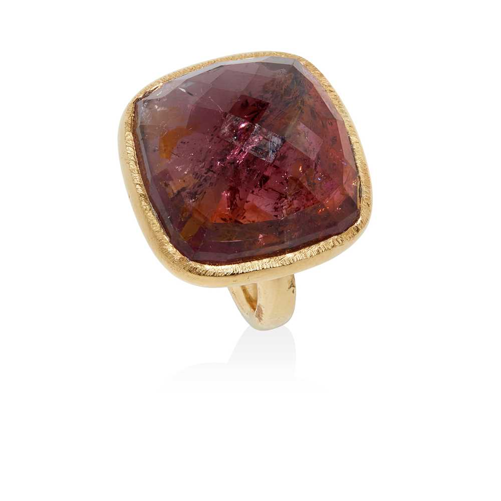 A tourmaline cocktail ring
