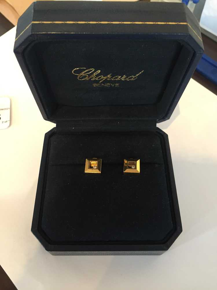 A pair of 'Happy Diamond' earrings, by Chopard - Image 7 of 7