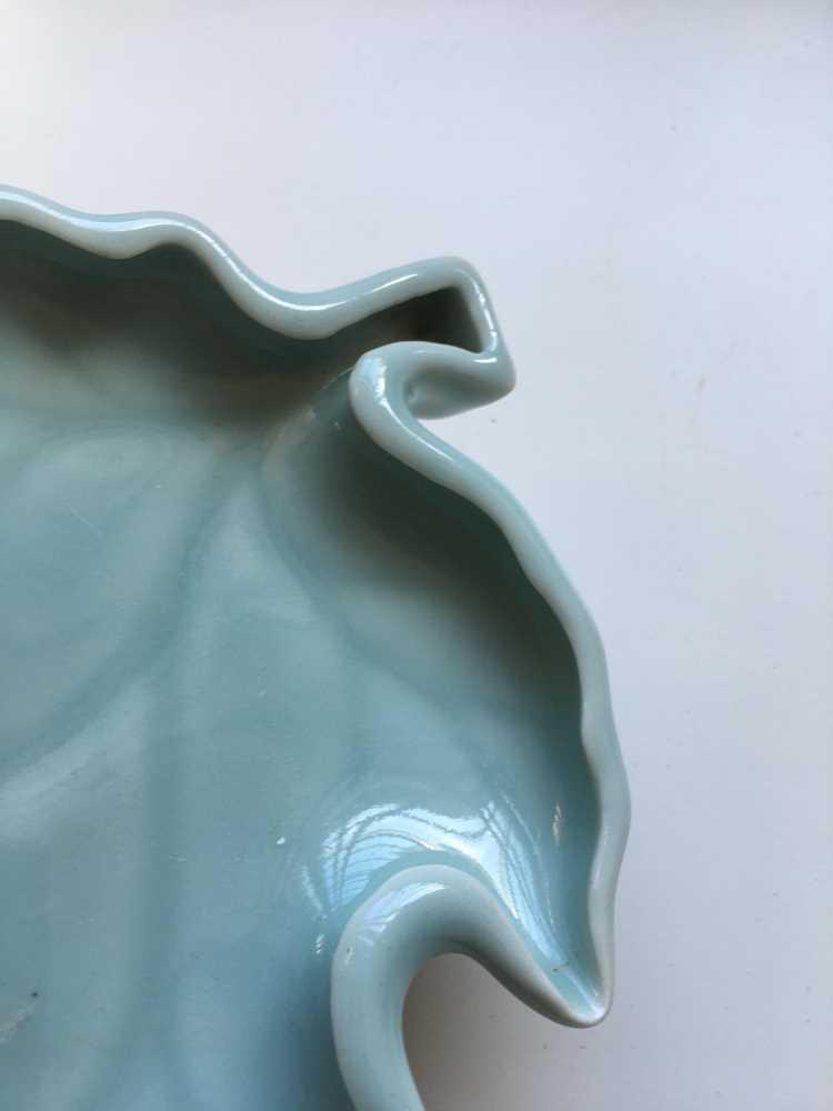 PEA-GREEN-GLAZED LEAF-FORMED BRUSH WASHER QIANLONG MARK - Image 14 of 15