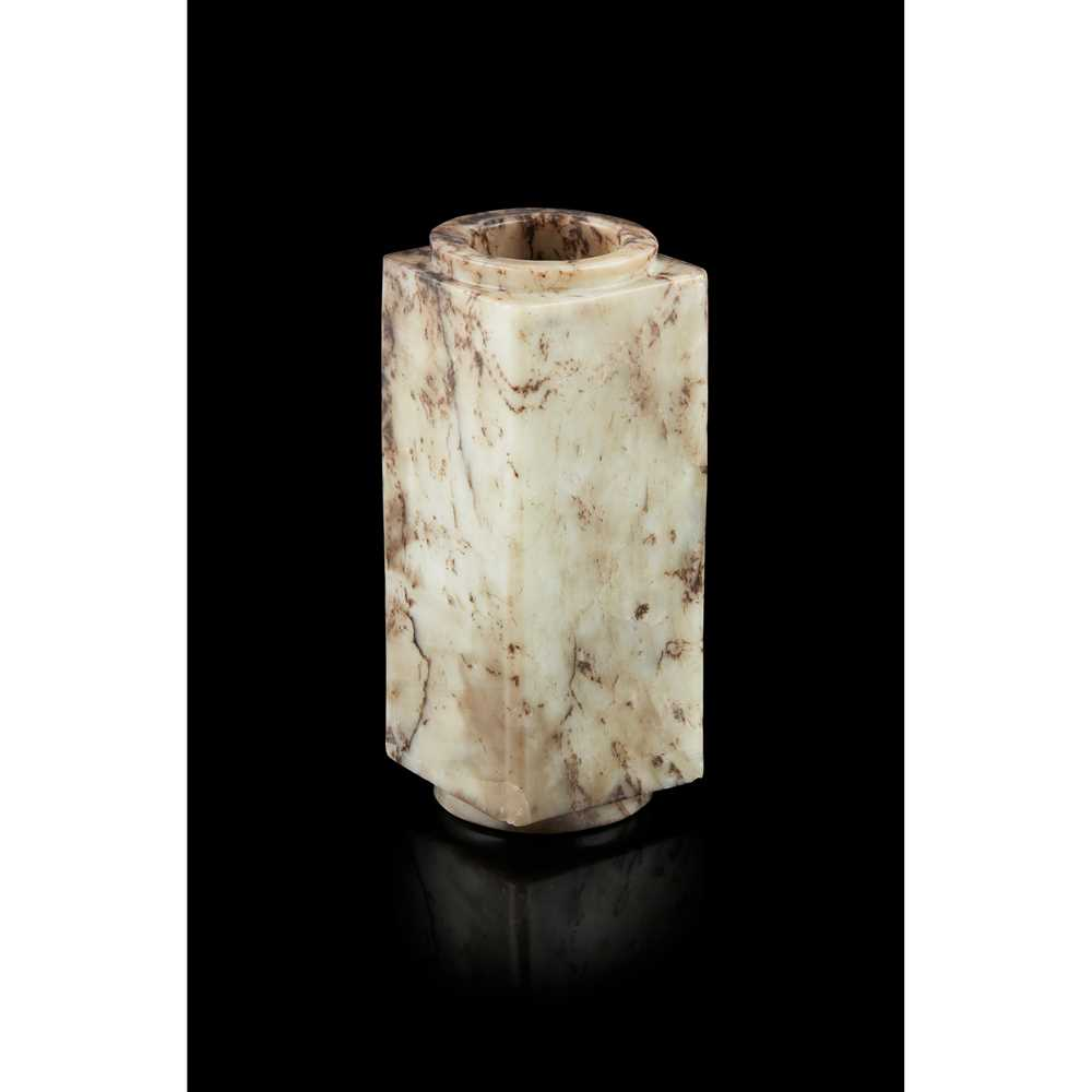 GREY AND RUSSET JADE CONG - Image 2 of 17