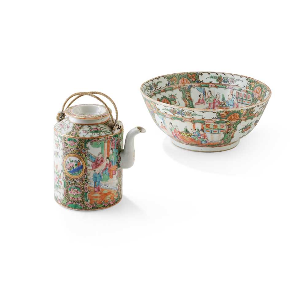 TWO CANTON FAMILLE ROSE WARES 19TH-20TH CENTURY
