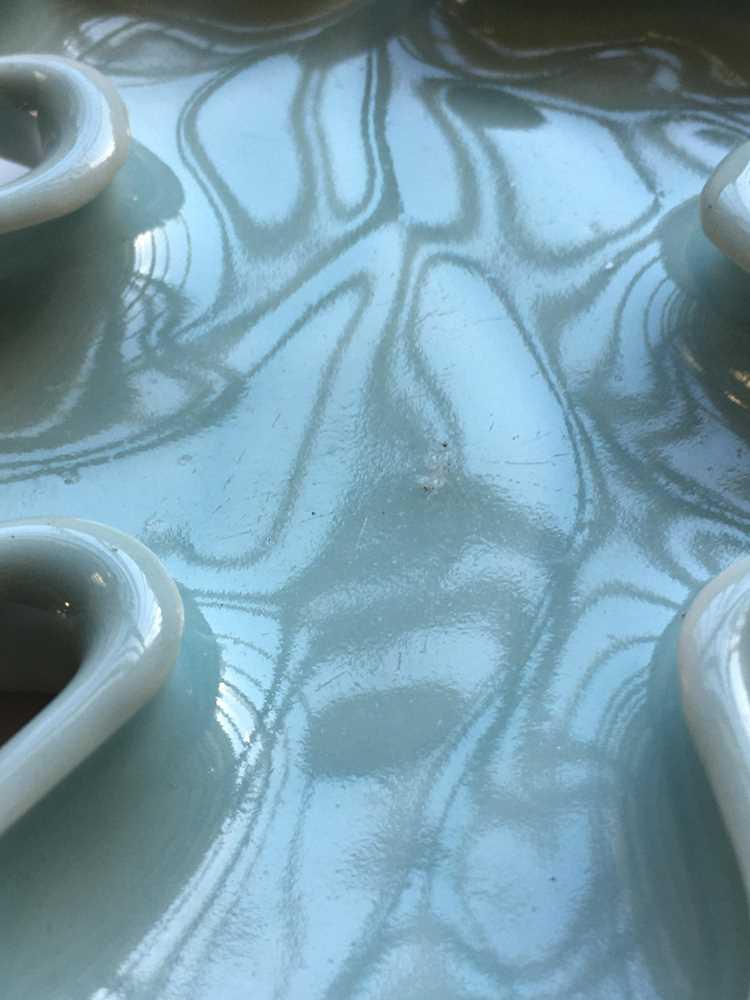 PEA-GREEN-GLAZED LEAF-FORMED BRUSH WASHER QIANLONG MARK - Image 15 of 15