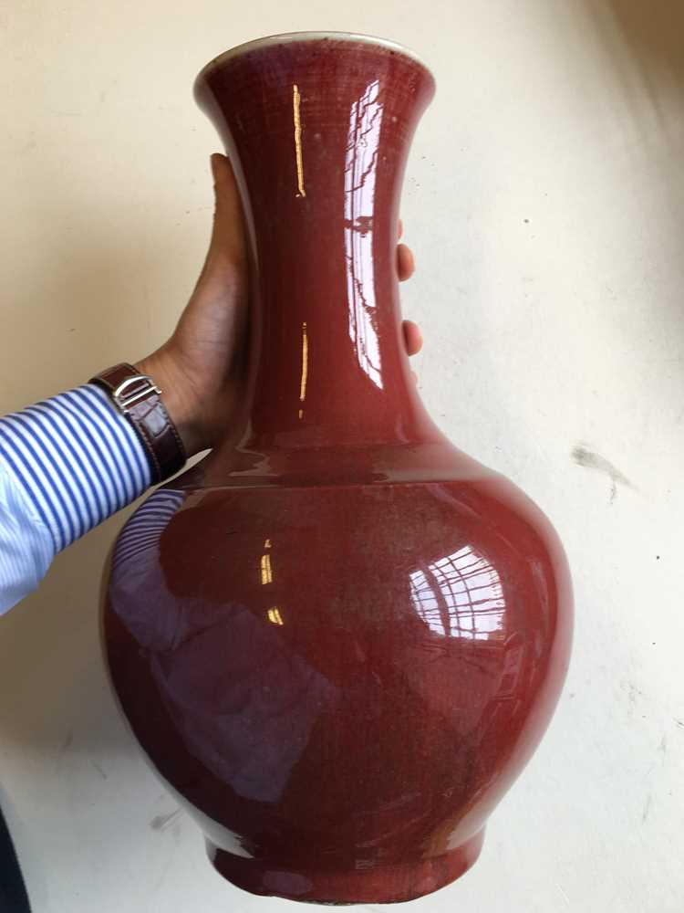 RED-GLAZED BALUSTER VASE LATE QING DYNASTY-REPUBLIC PERIOD, 19TH-20TH CENTURY - Image 3 of 21