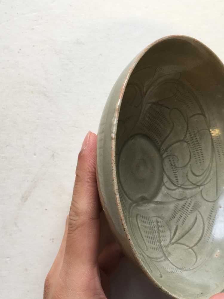 LONGQUAN CELADON-GLAZED TEA BOWL LATE NORTHERN SONG DYNASTY - Image 14 of 15