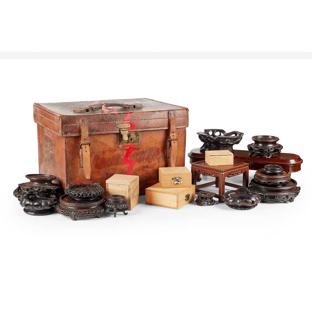 GROUP OF WOODEN STANDS
