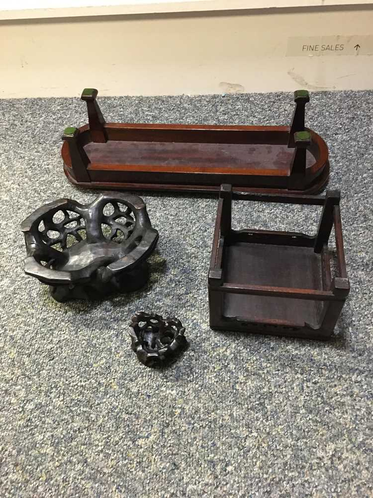 GROUP OF WOODEN STANDS - Image 7 of 20