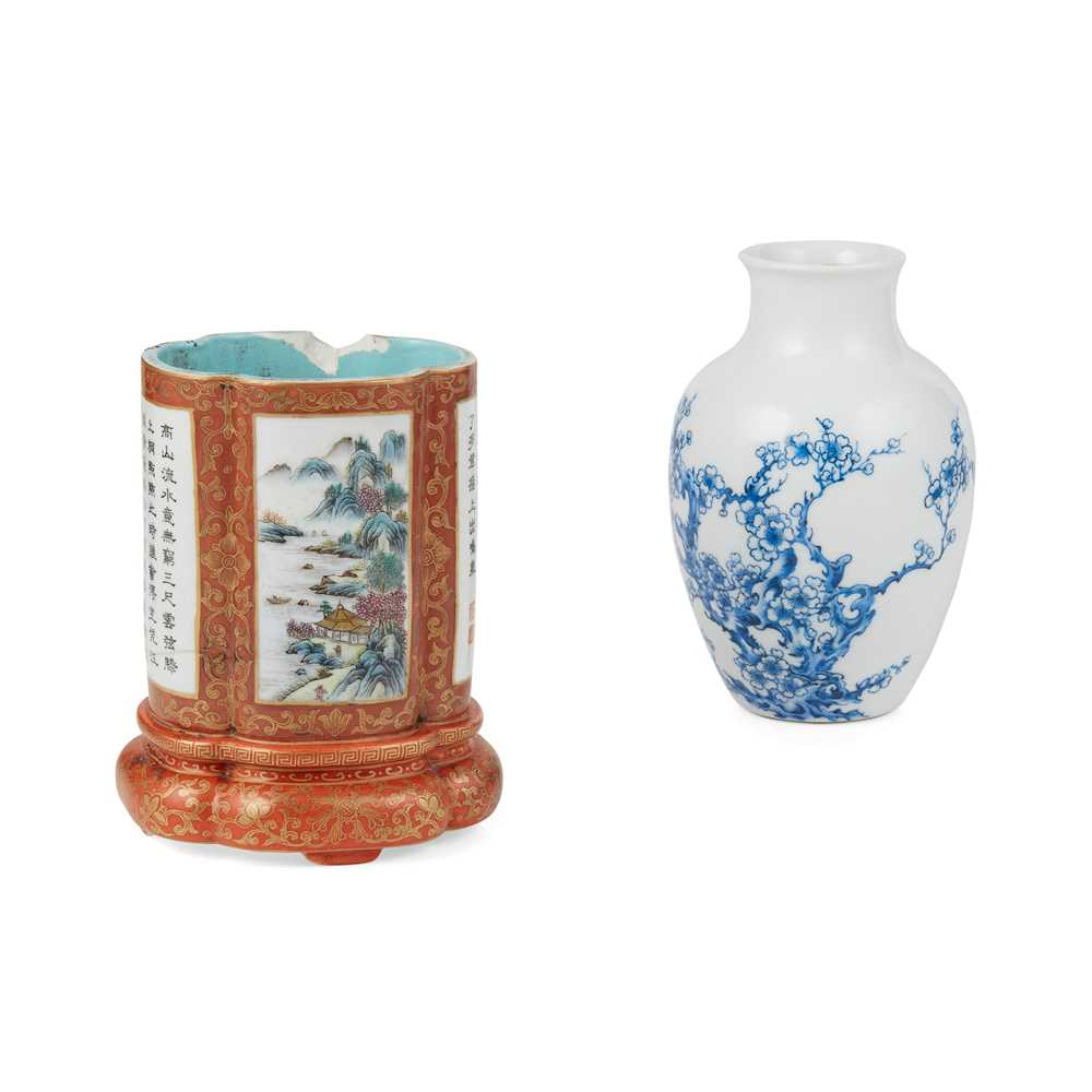 TWO CHINESE PORCELAIN WARES