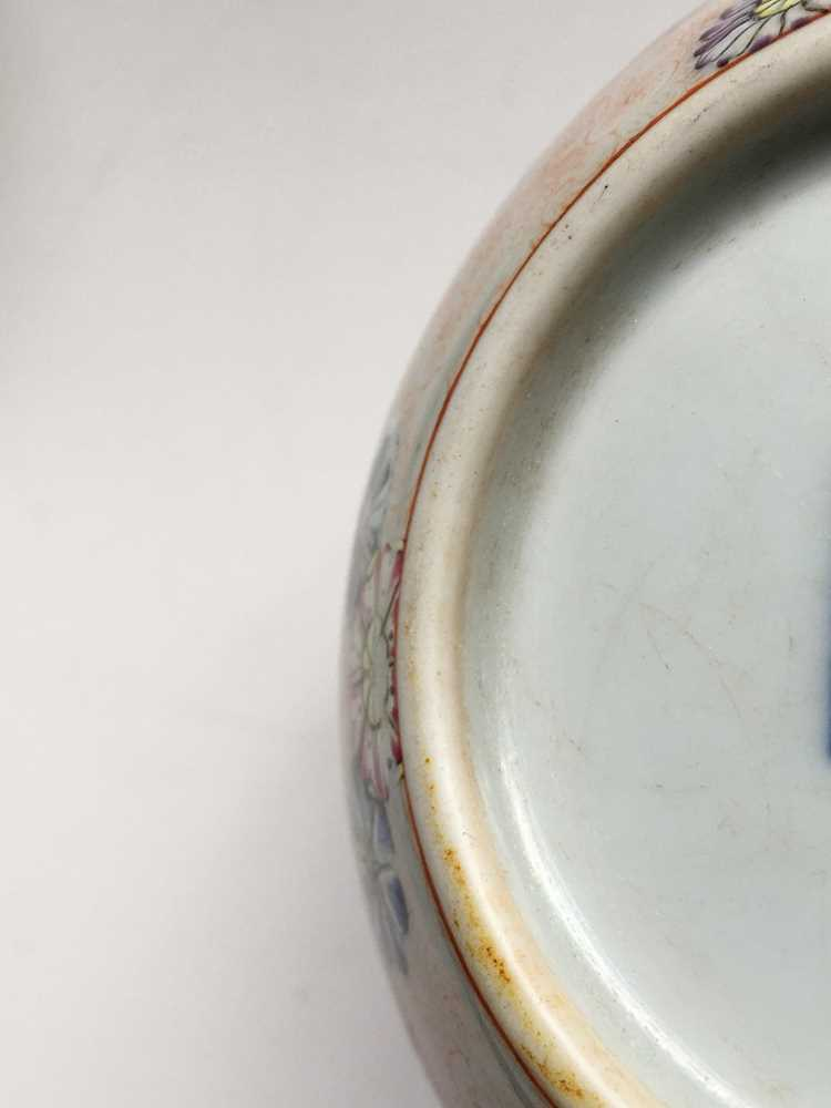 FAMILLE ROSE 'TEA COOKING' INSCRIBED LIDDED TEAPOT QIANLONG MARK BUT LATER - Image 9 of 23
