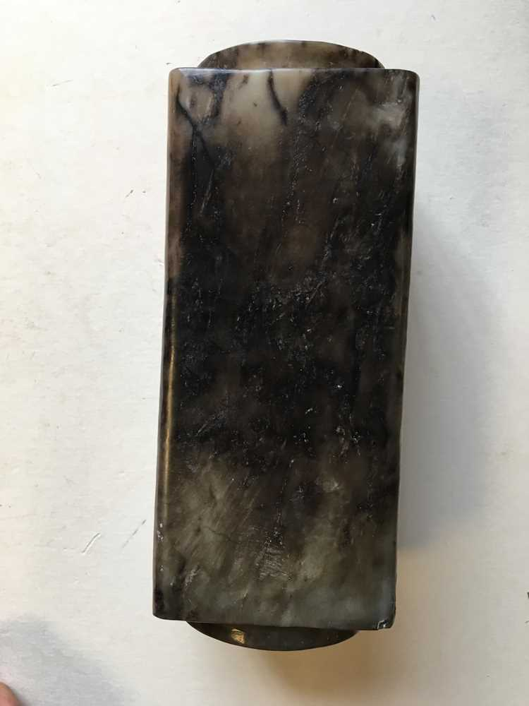 GREY AND RUSSET JADE CONG - Image 8 of 17