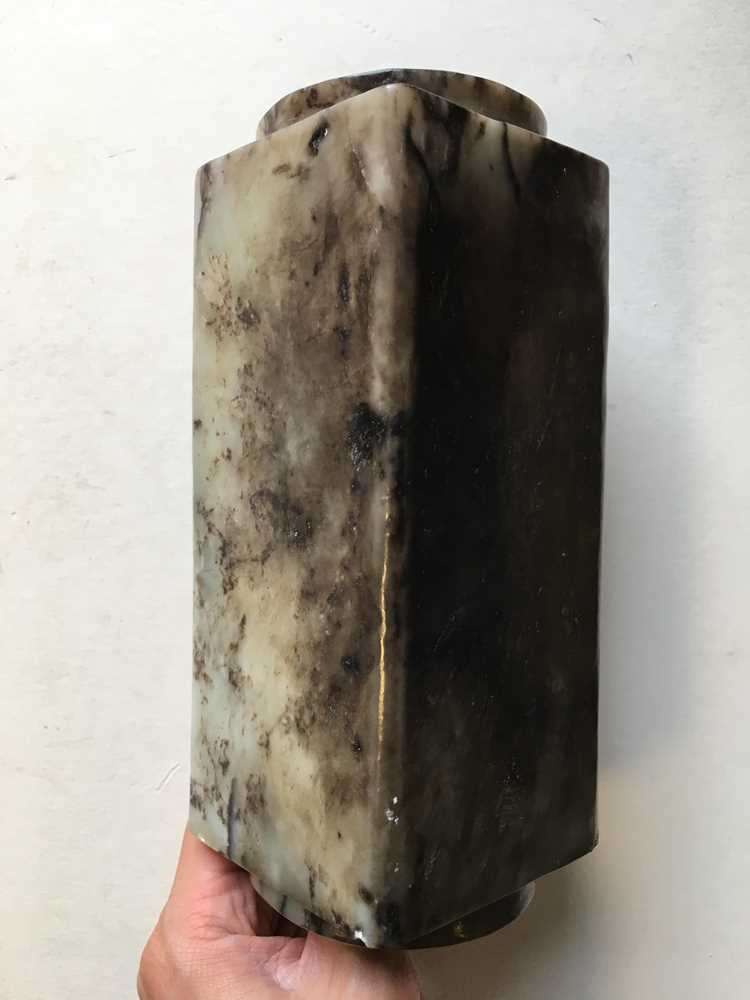 GREY AND RUSSET JADE CONG - Image 11 of 17