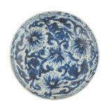 BLUE AND WHITE PLATE KANGXI PERIOD