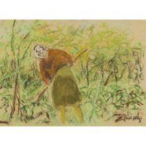 PAUL LUCIEN MAZE (FRENCH 1887-1979) GARDENING