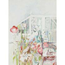 CHRISTINE WOODSIDE R.S.W., R.G.I. (SCOTTISH 1946-) SEPTEMBER GREENHOUSE