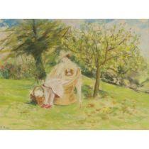 PAUL LUCIEN MAZE (FRENCH 1887-1979) SITTING IN THE GARDEN