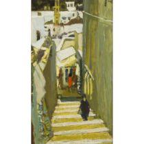 CHARLES JAMES MCCALL R.O.I (BRITISH 1907-1989) STREET IN LINDOS, RHODES