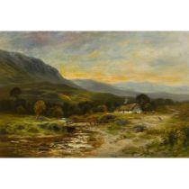 WILLIAM BEATTIE-BROWN R.S.A. (Scottish 1831-1909) IN ABERFOYLE GLEN