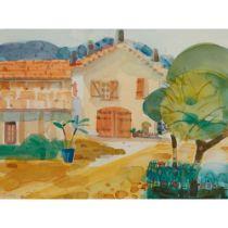 GLEN SCOULLER R.S.W., R.G.I. (SCOTTISH 1950-) THE FARM HOUSE, SEILLANS