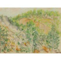 PAUL LUCIEN MAZE (FRENCH 1887-1979) MEDITERRANEAN HILLSIDE