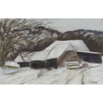 PAUL LUCIEN MAZE (FRENCH 1887-1979) COTTAGE IN THE SNOW