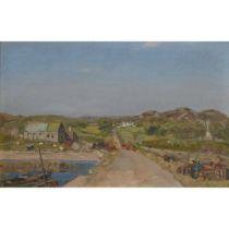 WILLIAM ARTHUR LAURIE CARRICK (SCOTTISH 1879-1964) THE FARM BY THE COAST