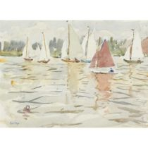 PAUL LUCIEN MAZE (FRENCH 1887-1979) YACHTS IN SUMMER
