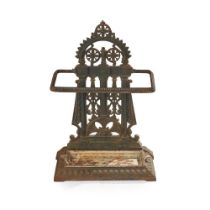 CHRISTOPHER DRESSER (1834-1904) FOR COALBROOKDALE IRONWORK COMPANY AESTHETIC MOVEMENT STICK STAND,