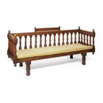 ENGLISH GOTHIC REVIVAL DAYBED, CIRCA 1890