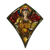 MANNER OF SELWYN IMAGE STAINED GLASS PANEL, CIRCA 1890