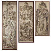 JAMES BALLANTINE & SON, EDINBURGH TWO STAINED GLASS CARTOONS, CIRCA 1896