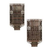 COALBROOKDALE IRONWORK COMPANY (ATTRIBUTED MAKER) PAIR OF AESTHETIC MOVEMENT WALL CABINETS, CIRCA 18