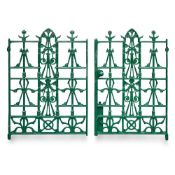 CHRISTOPHER DRESSER (1834-1904) (ATTRIBUTED DESIGNER) PAIR OF AESTHETIC MOVEMENT GATES, CIRCA 1880