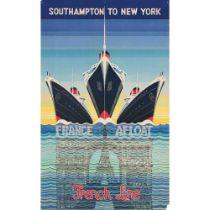 KAY STEWART SOUTHAMPTON TO NEW YORK, FRENCH LINE