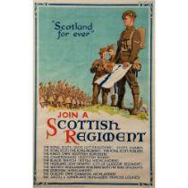 "TOM CURR (1887-1958) ""SCOTLAND FOREVER"", JOIN A SCOTTISH REGIMENT"