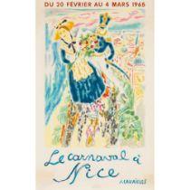 JEAN JULES-LOUIS CAVAILLES (1901 - 1977) LE CARNAVAL A NICE