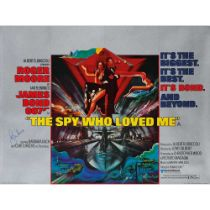 ROBERT M. PEAK (1927 - 1992) THE SPY WHO LOVED ME, SIGNED BY ROGER MOORE