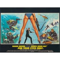 BRIAN BYSOUTH (B.1936) FOR YOUR EYES ONLY, SIGNED BY ROGER MOORE