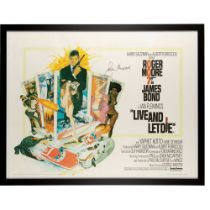 ROBERT MCGINNIS (B.1926) LIVE AND LET DIE, SIGNED BY ROGER MOORE