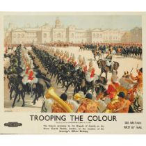 CHRISTOPHER CLARK (1875-1942) TROOPING THE COLOUR