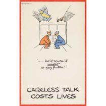 FOUGASSE (CYRIL KENNETH BIRD, 1887 – 1965) CARELESS TALK COSTS LIVES