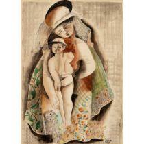 Béla Kádár (Hungarian 1877-1956) Mother and Child