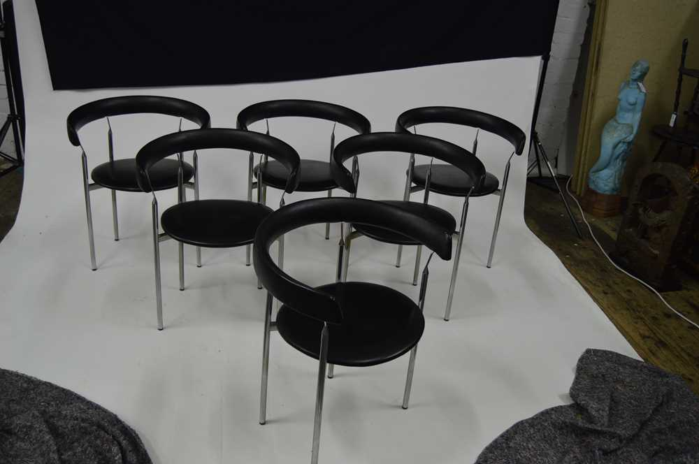 Jan Lunde Knutsen (Norwegian 1922-1990) for Karl Sorlie & Sons Set of Six 'Rondo' Chairs, designed 1 - Image 5 of 11
