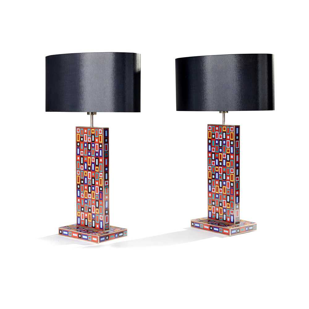 Christine Van Der Hurd (British Contemporary) (attributed to) Pair of Table Lamps