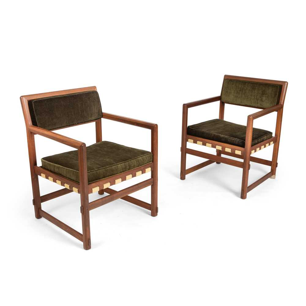 Edward Wormley (American 1907-1995) for Dunbar Pair of Armchairs, designed 1957