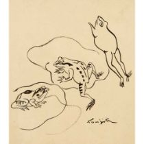 Tsuguharu Foujita (French / Japanese 1886-1968) Frogs