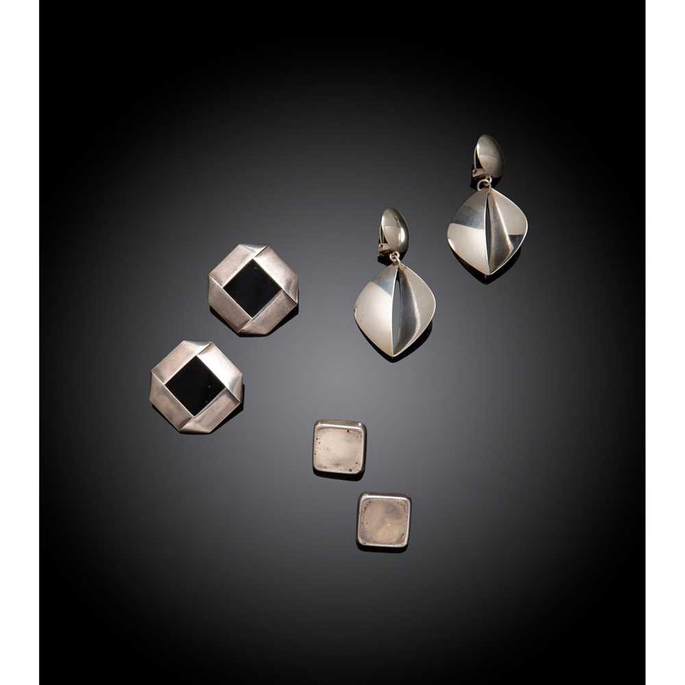 Georg Jensen Three Pairs of Clip Earrings